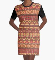 Colorful african ornament Graphic T-Shirt Dress