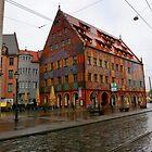 The Weberhaus in Augsburg by annalisa bianchetti