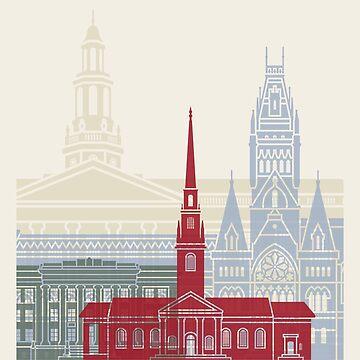 Harvard Skyline Poster von paulrommer