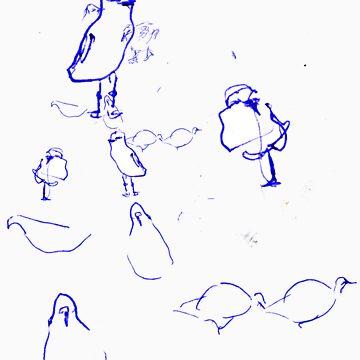 Lunch Break Birds by Rachel2
