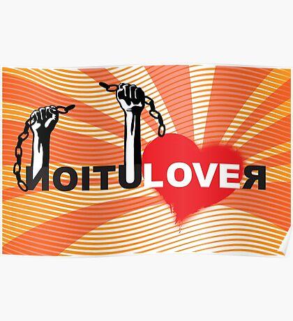 LOVE REVOLUTION graffiti illustration Poster