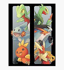 pokemon 3rd gen starters megaevolved cool design Photographic Print