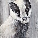 My Friend The Badger by Angela  Burman