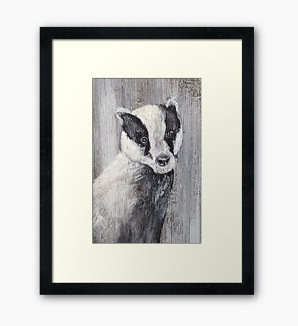 My Friend The Badger Framed Print