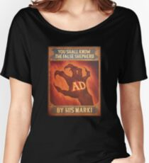 BioShock Infinite – You Shall Know the False Shepherd by His Mark! Poster Women's Relaxed Fit T-Shirt
