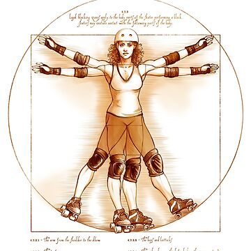 Vitruvian Skater on white only by DaniKaulakis