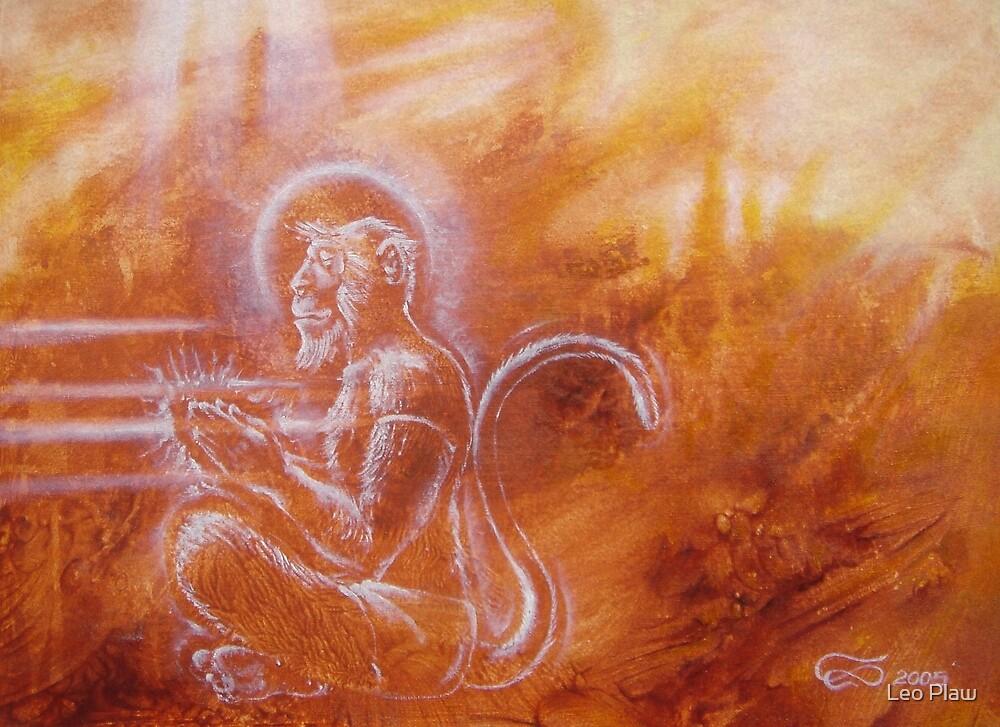 Hanuman - from ape to angel by Leo Plaw