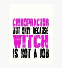 Chiropractor Witch Art Print  sc 1 st  Redbubble & Chiropractor: Wall Art | Redbubble