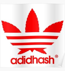 adidhash red Poster