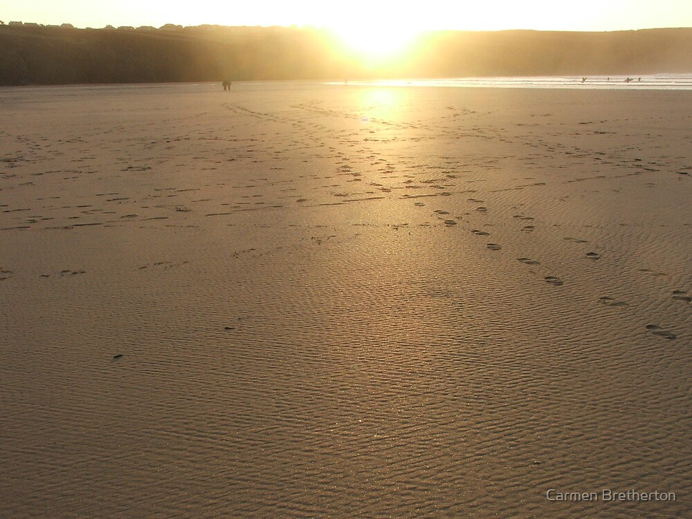 Crantock Beach by Carmen Bretherton