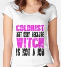 Colorist Witch Women's Fitted Scoop T-Shirt