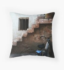 Bike And Stairs In Cappadocia Throw Pillow