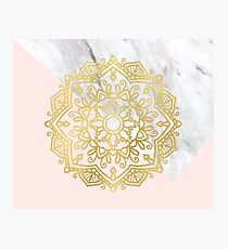 Vogue series - golden mandala Photographic Print