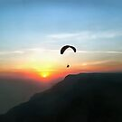Sunset Paraglide by taiche