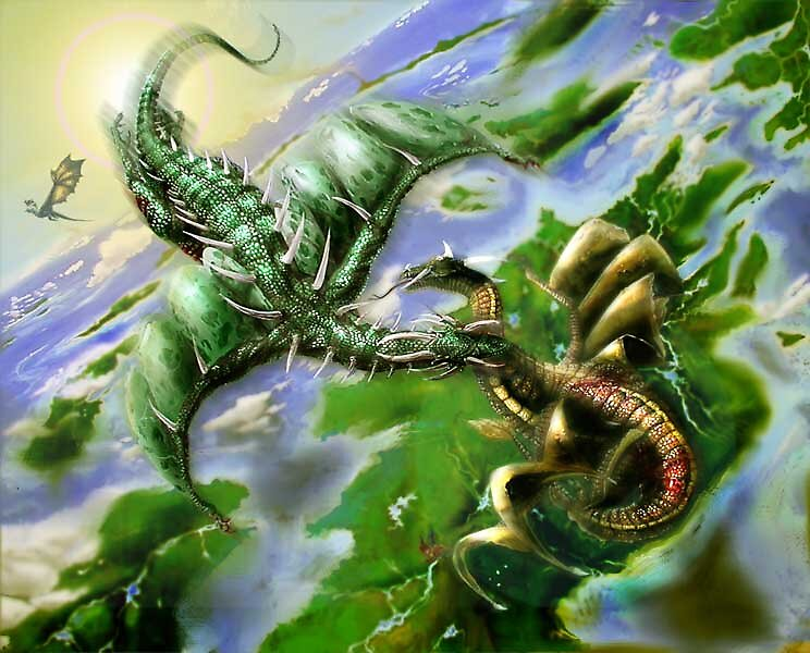 fighting dragons by David Knight