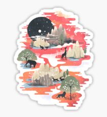 Landscape of Dreams Sticker