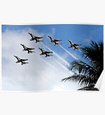 The Air Force Thunderbirds demonstration team. Poster