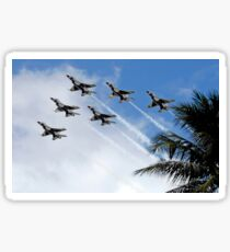 The Air Force Thunderbirds demonstration team. Sticker