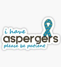 I have Apergers Blue Sticker