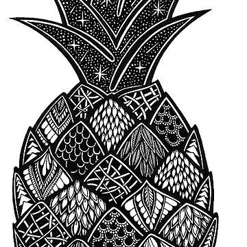 Zentangle Pineapple by AuroraAngove