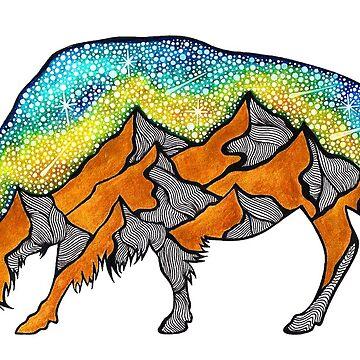 Golden Buffalo by AuroraAngove
