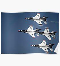 The U.S. Air Force Thunderbird demonstration team. Poster
