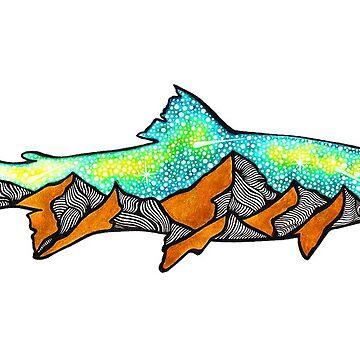 Golden Mountain Fish  by AuroraAngove