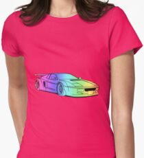 Cool car colourful Womens Fitted T-Shirt