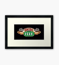 Friends - Central Perk White Outline Variant Framed Print