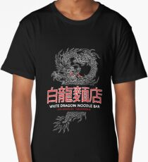 White Dragon Noodle Bar - ½ White Cut Cantonese Variant Long T-Shirt