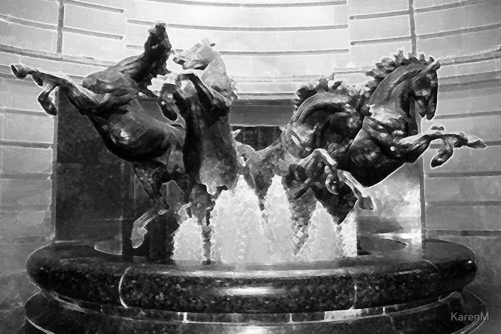Horses Fountain by KarenM
