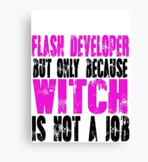 Flash Developer Witch Canvas Print