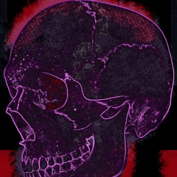 purple skull by IanByfordArt