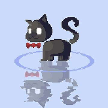 Pixel art cat by Ombrage