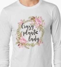 Crazy Plant Lady - Floral wreath Botanical T-Shirt