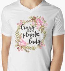 Crazy Plant Lady - Floral wreath Botanical T-Shirt
