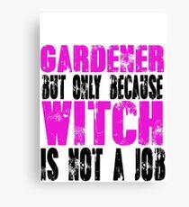Gardener Witch Canvas Print