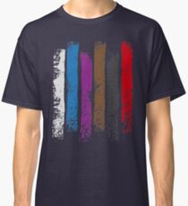 BJJ Belt Rank Vertical Stripes Shirt for Jiu Jitsu Classic T-Shirt