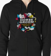 HORSE GROOM - NO BODY KNOWS Zipped Hoodie