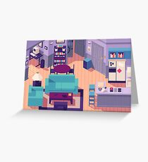 Jerry Seinfeld Apartment 5A Isometric Greeting Card