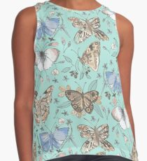 Bright Butterfly Print Contrast Tank
