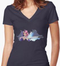 Alisa Women's Fitted V-Neck T-Shirt
