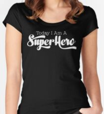 Geek Mantra - Today I Am A Super Hero Women's Fitted Scoop T-Shirt