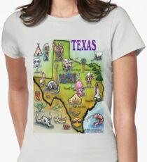 Texas Cartoon Map T-Shirt