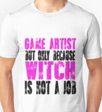 Game Artist Witch Slim Fit T-Shirt