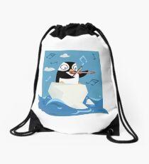South Pole Musical Penguin Drawstring Bag