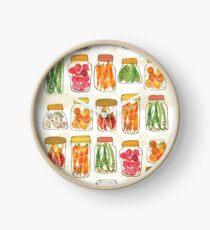 Lovely pickles in vintage jars Clock