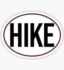 HIKE BLACK WHITE OVAL HIKING MOUNTAINS EXPLORE OUTDOORS NATURE Sticker