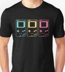 Minimal Gameboy Outlines (black) Unisex T-Shirt