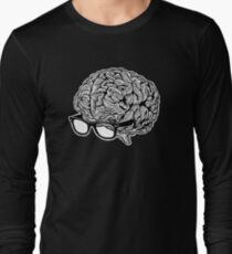 Brain with Glasses Long Sleeve T-Shirt